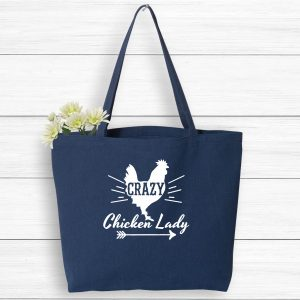 Crazy Chicken Lady Farmer's Market Tote