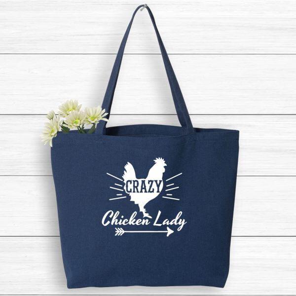 Crazy Chicken Lady Farmer's Market Tote
