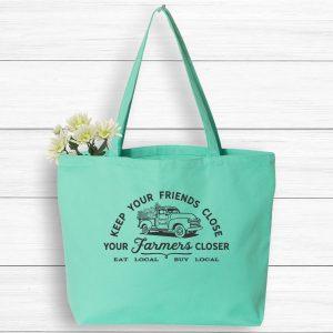 Keep Your Friends Close Farmer Closer Tote Bag