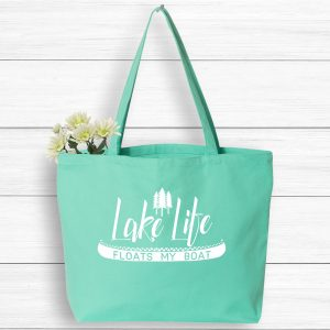 Lake Life Floats My Boat Vacation Tote