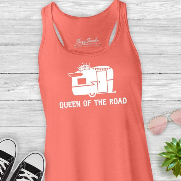 Queen of the Road Glamping Tank Top
