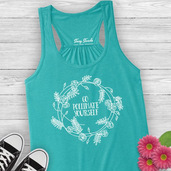 Go Pollinate Yourself ladies tank top