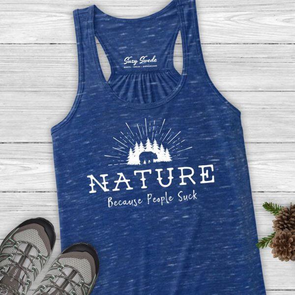 Nature Because People Suck Ladies Tank Top