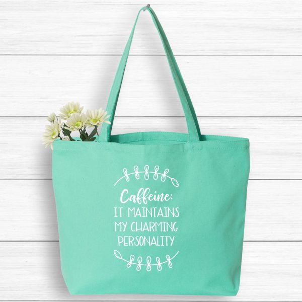 Caffeine Maintains My Charming Personality Market Tote