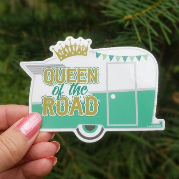 Queen of the Road sticker