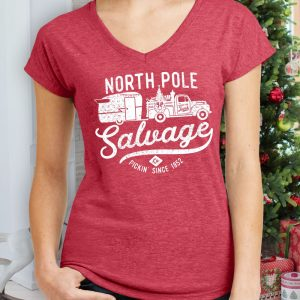 North Pole Salvage Ladies Vintage Holiday Shirt