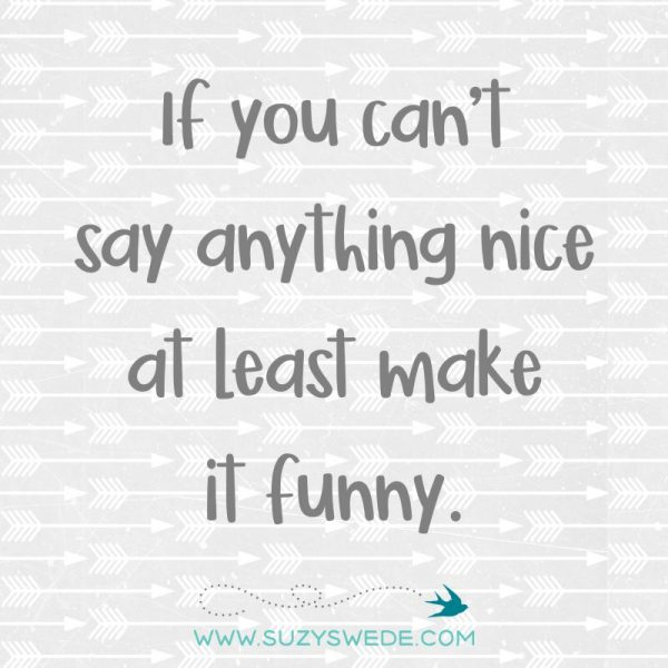Some fun little nuggets, life's truths, and sarcastic funnies to make you laugh until you pee!